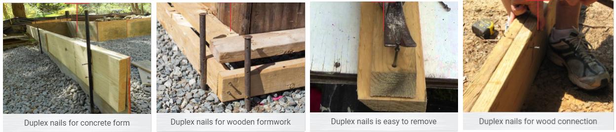 Duplex (Double Head) Nails application