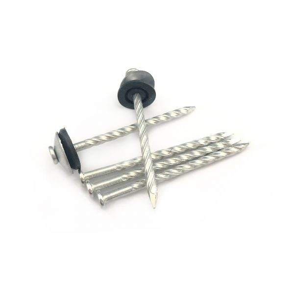 Twist Shank Roofing Nails With Plastic Cap
